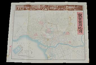 大正時代の東京案内地図